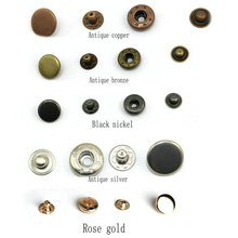 купить 1000set/Pack 831 Metal Press Studs Sewing Button Snap Fasteners Sewing Leather Craft Clothes Bags дешево
