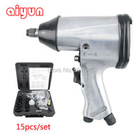 350Nm 15pcs Set 1 2 Air Wrench Set Impact Wrench Air Tools Air Angle Die Grinder