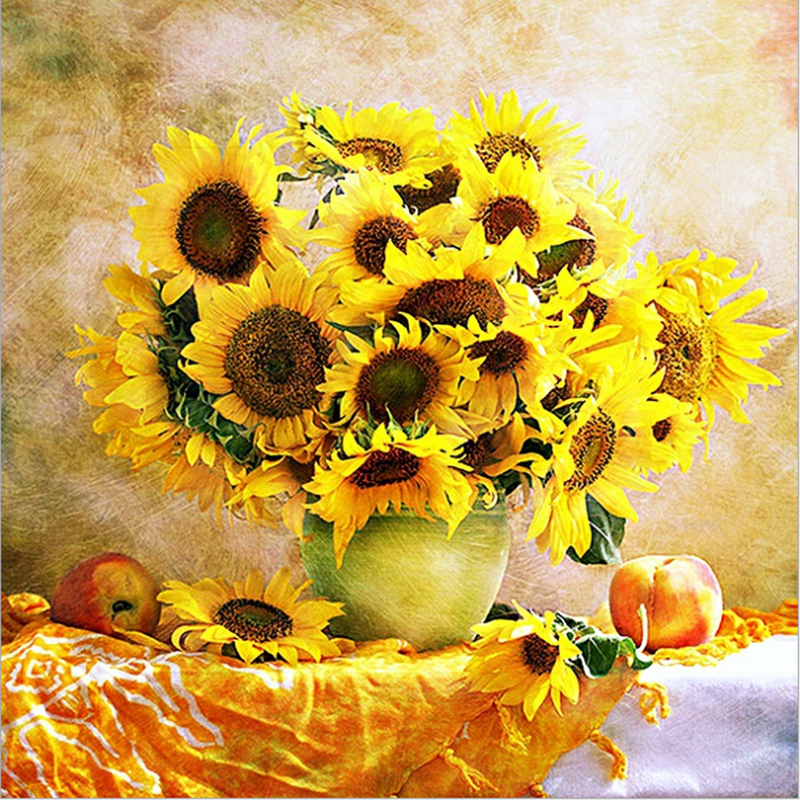 Sunflower Full Diamond Embroidery Flower 5D Diamond Painting Cross - Arts, Crafts and Sewing - Photo 1