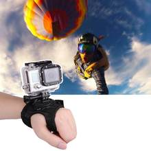 360 Degrees Wrist Band Arm Strap Belt Tripod Mount for GoPro Hero 4 3+ 3 2 Camera Fist Adapter Band Case for Go Pro Accessories(China)