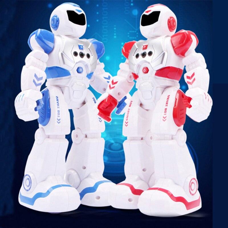 RC Robot Jouet Enfant Intelligent Télécommande Robot Avec Chanter Danse Action Figure Jouets Pour Garçons Enfants Cadeau D'anniversaire Nouveau