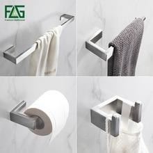 FLG 304, нержавеющая сталь, матовый никель, настенное крепление, комплекты для ванной, полотенце, крючок для халата, держатель для бумаги, аксессуары для ванной комнаты, набор