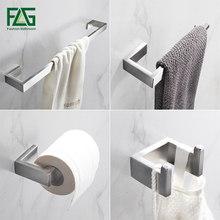 Flg conjunto de equipamento para banheiro, equipamento de aço inoxidável para montagem em parede do banheiro entrave para tolha e roupão acessórios para banheiro