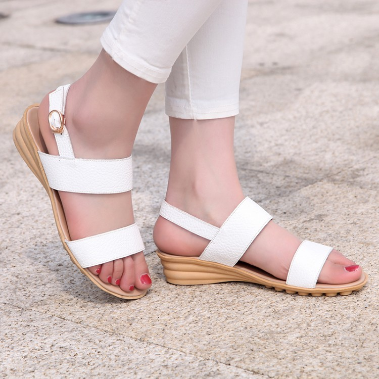New Fashion Buckle Open Toe Wedge Sandals Ankle Strap -9928