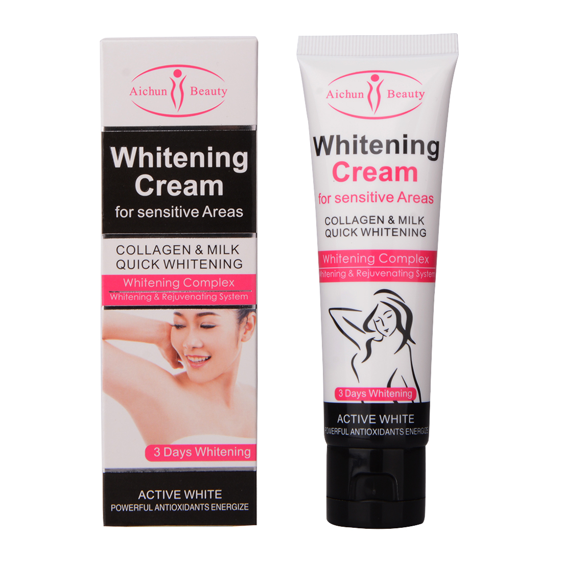Beauty & Health 50ml Beauty Body Cream Armpit Whitening Cream Between Legs Knees Private Parts Underarm Whitening Formula Armpit Whitener Hot!!!