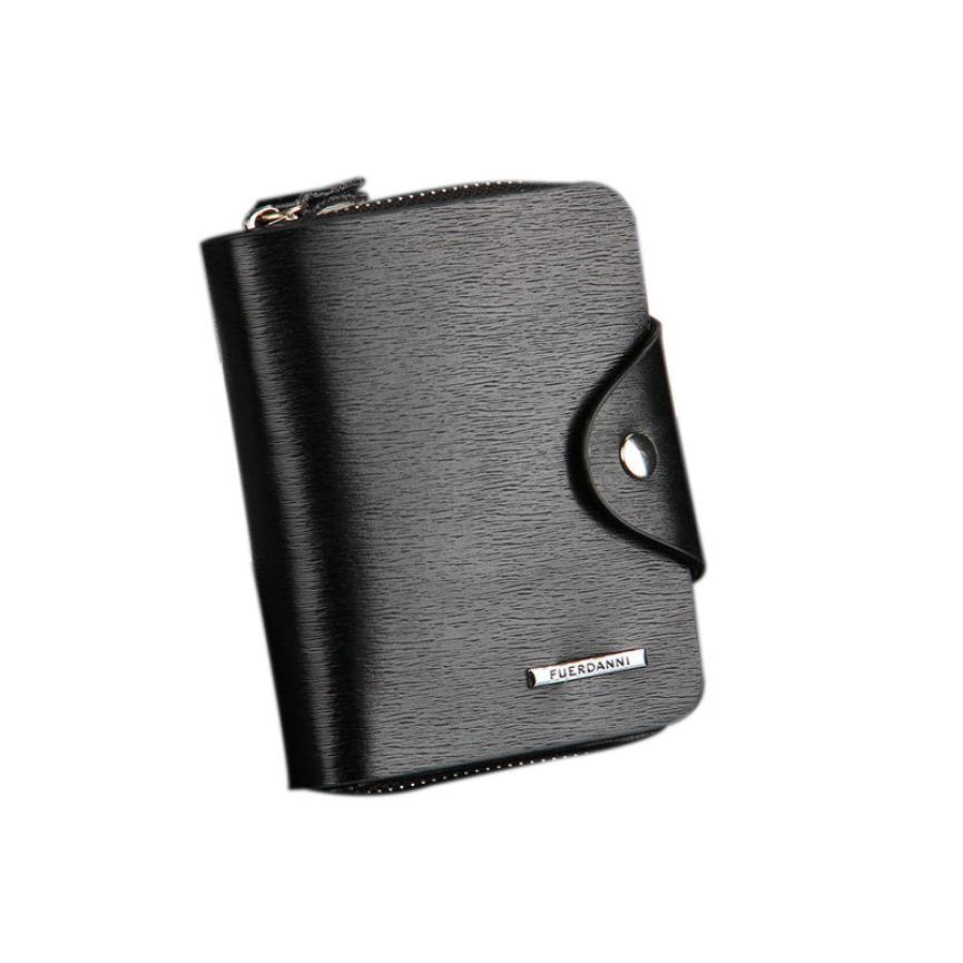 цены  2017 Fashion Wallet Mens Leather ID Card Holder Billfold Zip Purse Wallet Handbag Clutch Men's Wallet carteras mujer #35