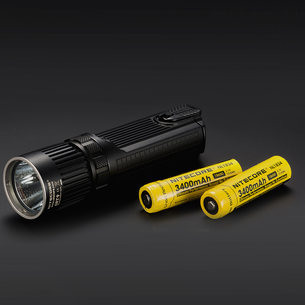 wholesale NITECORE SRT9 2150 Lumen Red Blue Green UV 4LED Gear Hunting Law Enforcement Military Flashlight Lantern FREE SHIPPING 2017 nitecore five colours primary infrared light ci6 hunting kit gear hunting law enforcement militar flashlight lantern boxset
