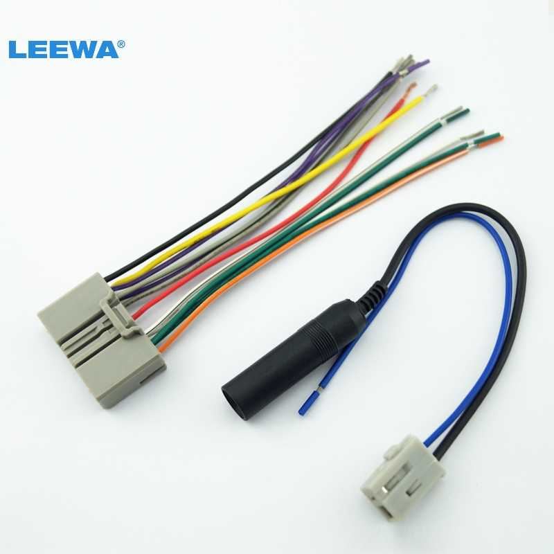 LEEWA Car Audio CD Player Radio Stereo Wiring Harness Antenna Adapter Plug  For Honda Civic/Fit/CR V/Odyssey #CA3734|stereo wiring harness|harness  adapterwiring harness adapter - AliExpressAliExpress