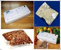 Melhor máquina aferidor do vácuo elétrico 220 v 110 v com 10 pçs sacos de poupança de alimentos do agregado familiar automática máquina de embalagem a vácuo de alimentos