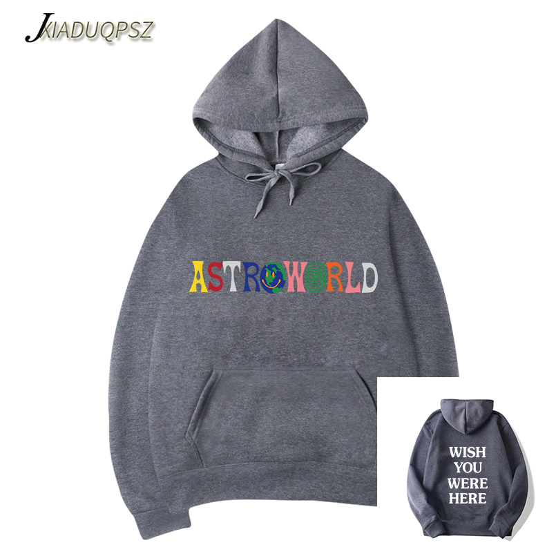 2323e074e87f [HOT DEAL] US $18.32 for New TRAVIS SCOTT ASTROWORLD WISH YOU WERE HERE  HOODIES fashion letter ASTROWORLD HOODIE streetwear Man/woman Pullover  Sweatshirt