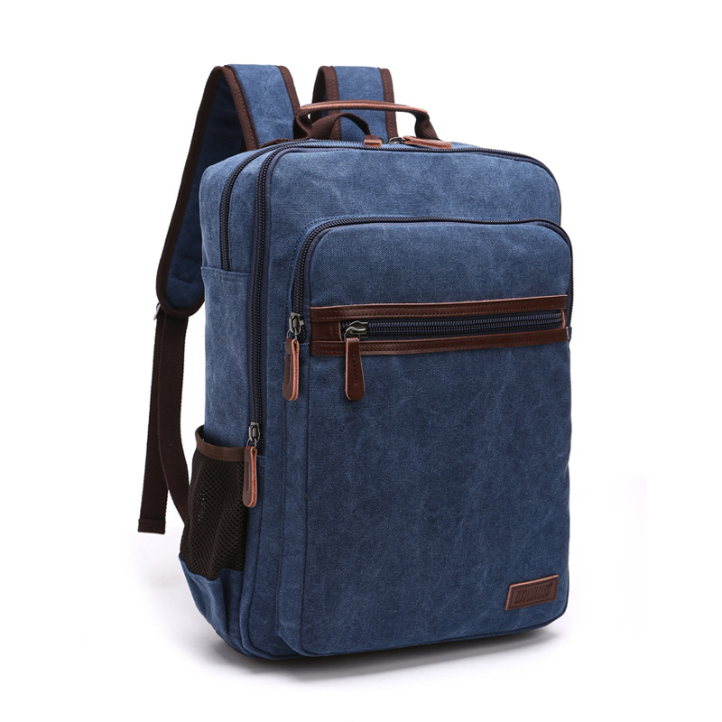 Db75 New Fashion Shoulder Strap Zipper Solid Casual Bag Male Backpack School Bag Canvas Bag Designer Laptop Backpacks For Men