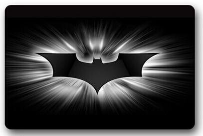 Hot koop custom donker batman logo deur mat art ontwerp patroon