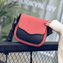Free shipping, 2018 new trend women handbags, retro simple flap, fashion shoulder bag, tassel ornaments woman messenger bag.