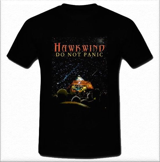 Hawkwind Do Not Panic Psychedelic rock band Hawklords t-shirt Tee S M L XL 2XL