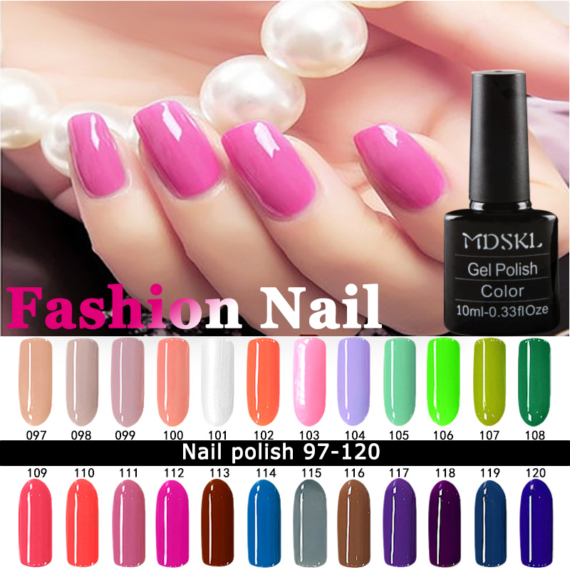 MDSKL font b Nail b font Polish 10ML High Quality Candy Long Lasting DIY Beauty font