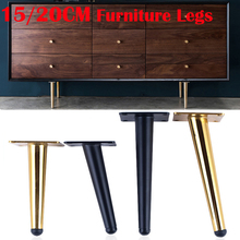 4 sztuk 150/200MM meble stół nogi metalowe stożkowe Sofa szafka szafka meble nogi stopy kawy i herbaty bar stołek krzesło nogi stóp