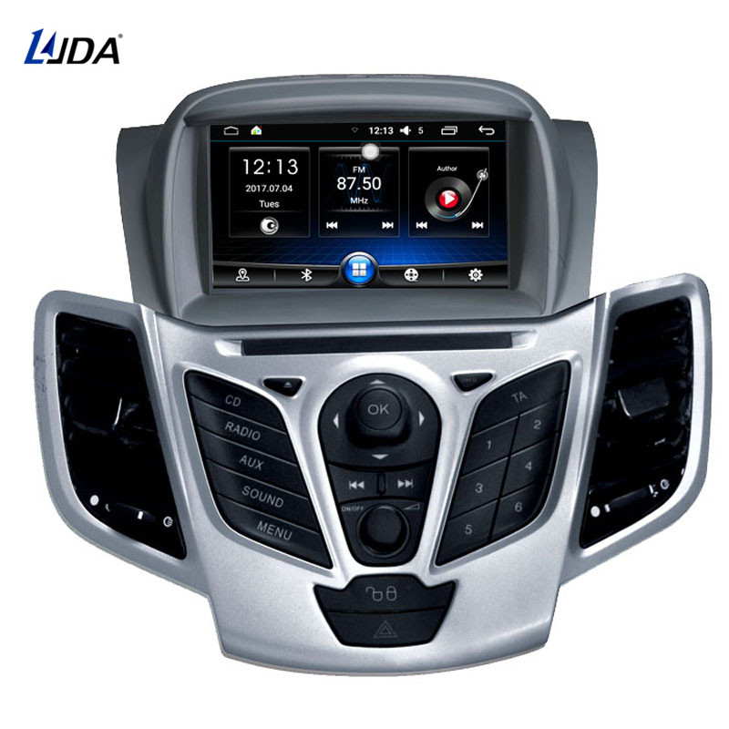 LJDA Android 6.0 Lecteur DVD de Voiture Pour Ford Fiesta 2008 2009 2010 2012 2013 2015 Radio Audio Bluetooth Canbus GPS navigation 4 Core