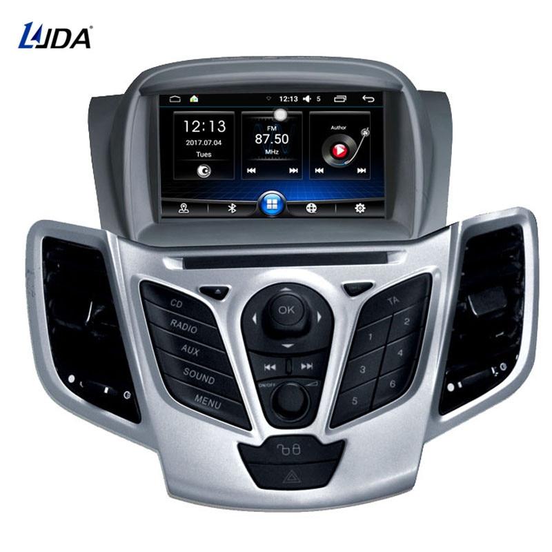 LJDA Android 6.0 Lecteur DVD de voiture Pour Ford Fiesta 2008 2009 2010 2012 2013 2015 Radio Audio Bluetooth Canbus GPS navigation à 4 Conducteurs