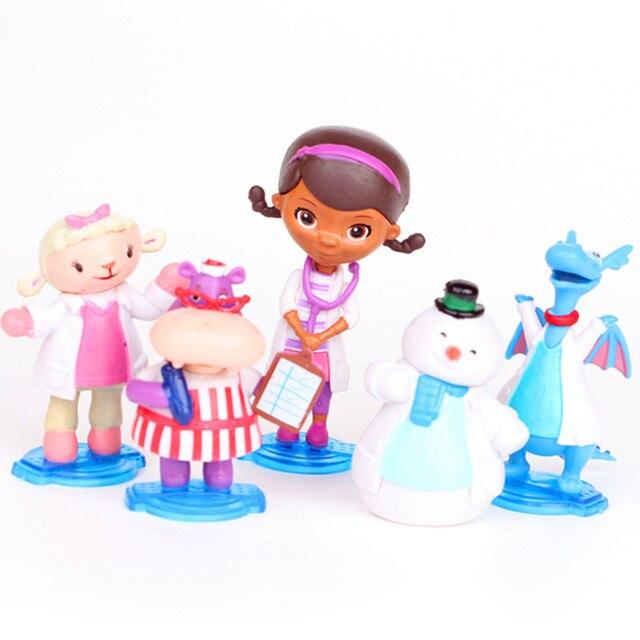 5 шт./компл. Doc McStuffins фигурки коллекционный набор больница McStuff доктор друзья Девочки 5-8 см фигурка игрушки