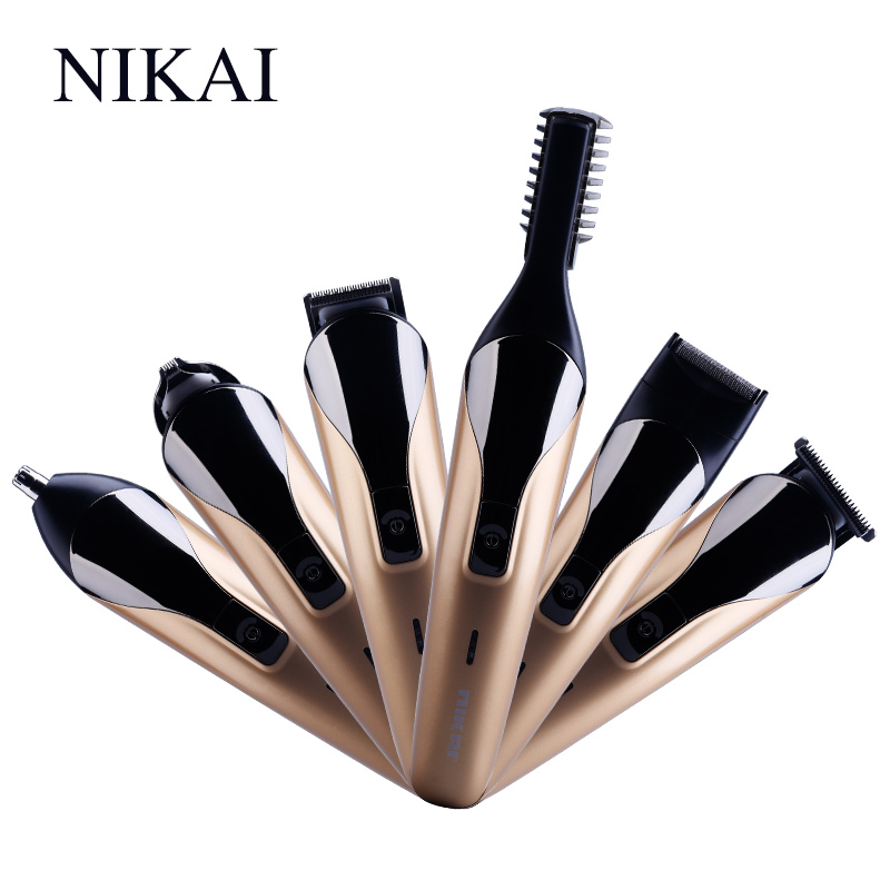 NIKAI Professional Hair Trimmer 6 In 1 Hair Clipper Shaver Sets Electric Shaver Beard Trimmer Hair Cutting Machine NK-1711 philips brl130 satinshave advanced wet and dry electric shaver