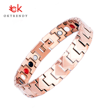 Oktrendy Fashion Unisex Magnetic Bracelet Bangle Cuff Gold Surfer Wristband Adjustable Charms Bracelets For Men Women