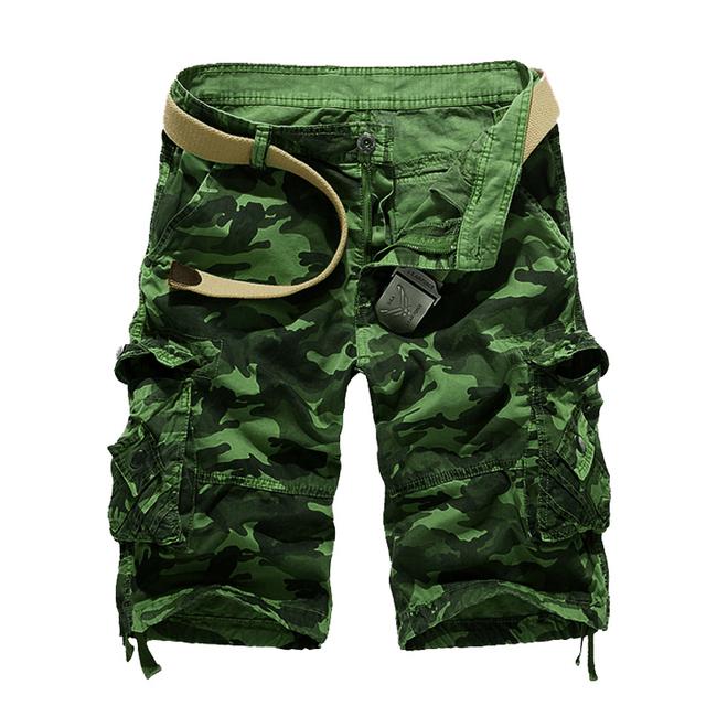 Cargo Shorts Camo Green