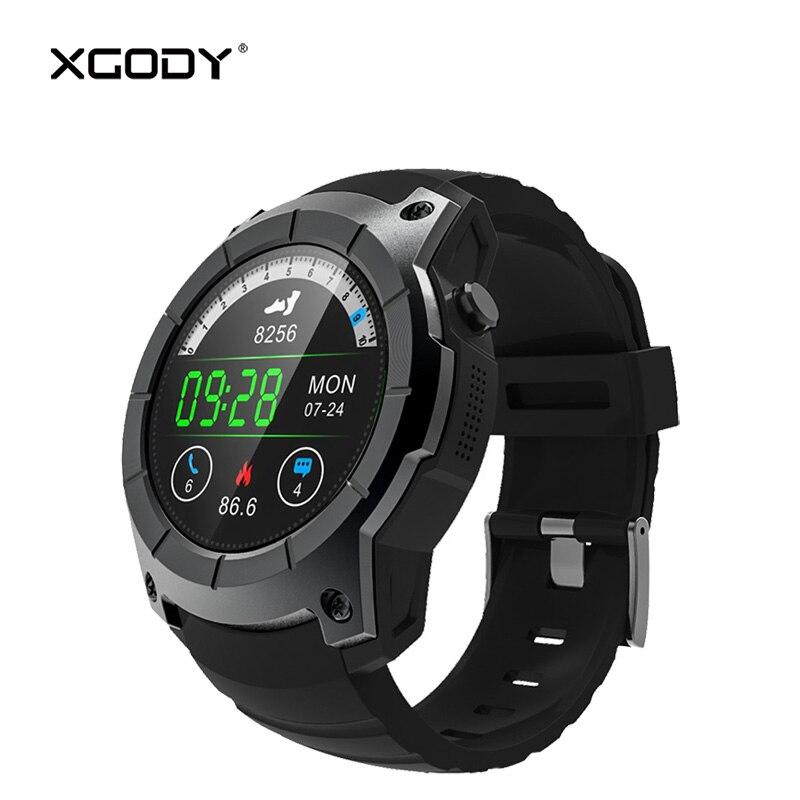 XGODY S958 GPS Tracker Outdoor Sports Smart Watch with Sim Card 2G Phone Call Pedometer Heart Rate Monitor Wristwatch Men Reloj цена