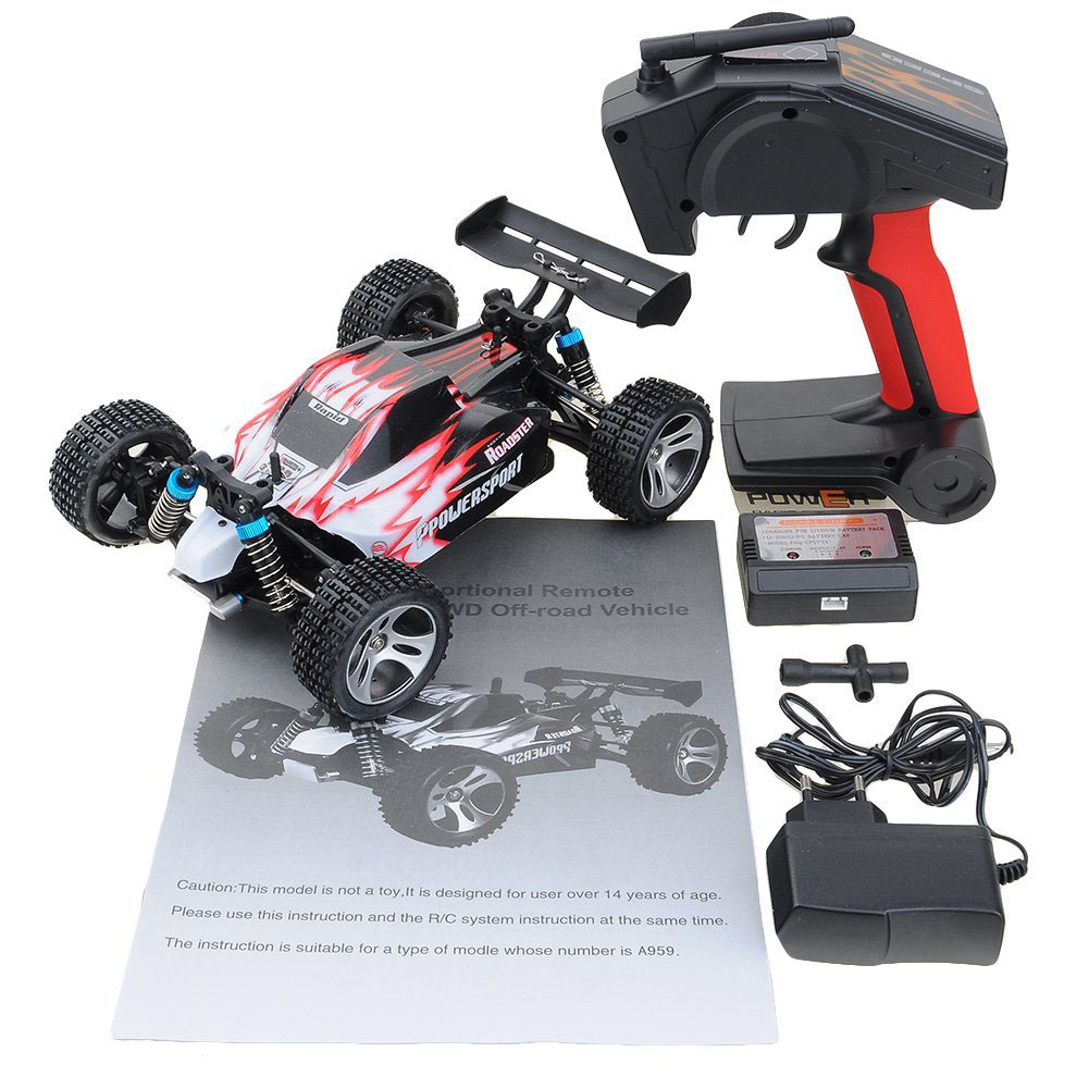 A959 WLtoys RC Car 2.4G 1:18 Scale Remote Control Off-road Racing Car High Speed Stunt SUV Toy RTR Off-Road Buggy Gift For Boys
