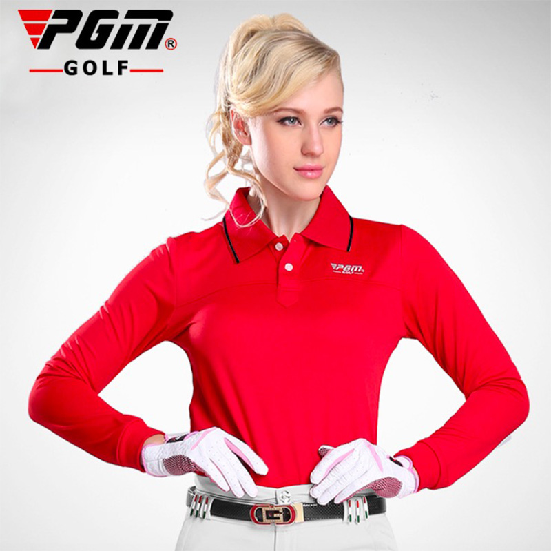 2017 Autumn PGM Brand high-quality Golf Shirt Outdoor Sports Polo Quick-Drying Long Sleeve Golf Shirt Women and Lady Size S-XL