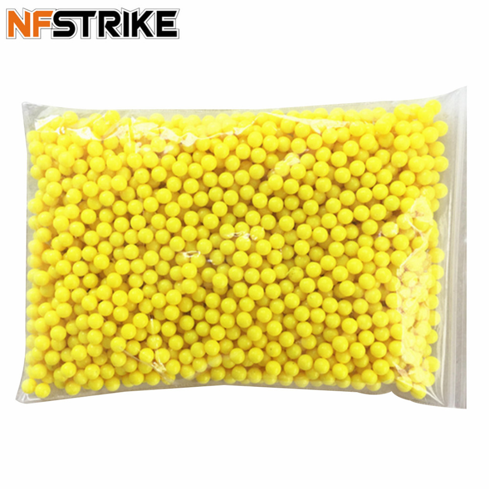 NFSTRIKE 2000Pcs Plastic 6mm Ball Shape Plastic BB Bullets For Toy Guns Pistol Pneumatic Weapon For Outdoor Shooting - Yellow partes del cable coaxial