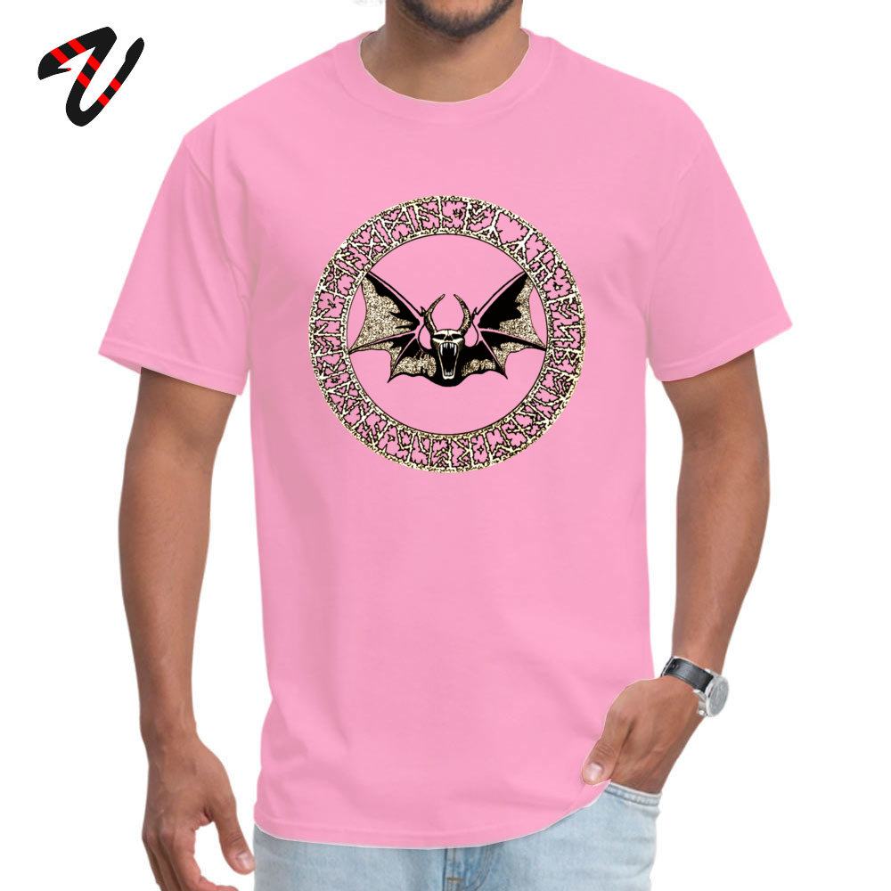 2019 New Fashion Male _black T-Shirt Ozzy Bat Orb Casual Tops Tees 100% Cotton Short Sleeve Design Tops Tees Crew Neck Ozzy Bat Orb 5118 pink
