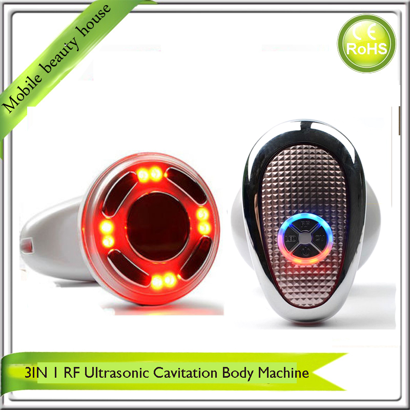 3 IN 1 Ultrasonic RF Cavitation Vacuum Liposuction Cellitule Wrinkle Fat Reduction Body Sculpting Slimming Massager
