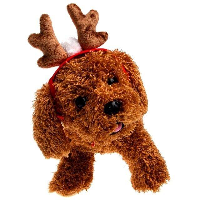 Cachorro peluche gatito Navidad ELK Antler Reno traje para mascotas perro  gato sombrero 8a40fe5c215