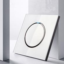Стандартный сенсорный выключатель белого цвета с украшением в виде кристаллов Стекло Панель сенсорный выключатель AC220V 1 Gang 1Way настенный выключатель света Сенсорный экран переключатель