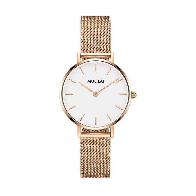 2018 Top Brand Luxury Ultra Thin Gold Steel Mesh Watches Women Dress 32mm DW Sty