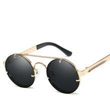 Óculos De Sol Dos Homens do vintage Óculos Redondos Óculos De Sol Das Mulheres  2018 Óculos 6b2b2effc4