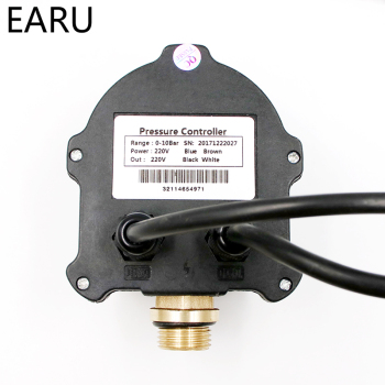"1pc WPC-10 Digital Water Pressure Switch Digital Display WPC 10 Eletronic Pressure Controller for Water Pump With G1/2""Adapter 6"