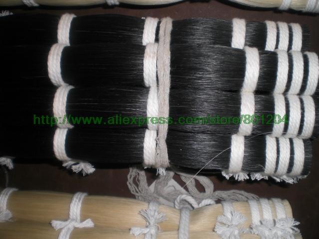 2LBs haute qualité noir cheval cheveux queues de cheval, noir arc cheveux en 81 cm