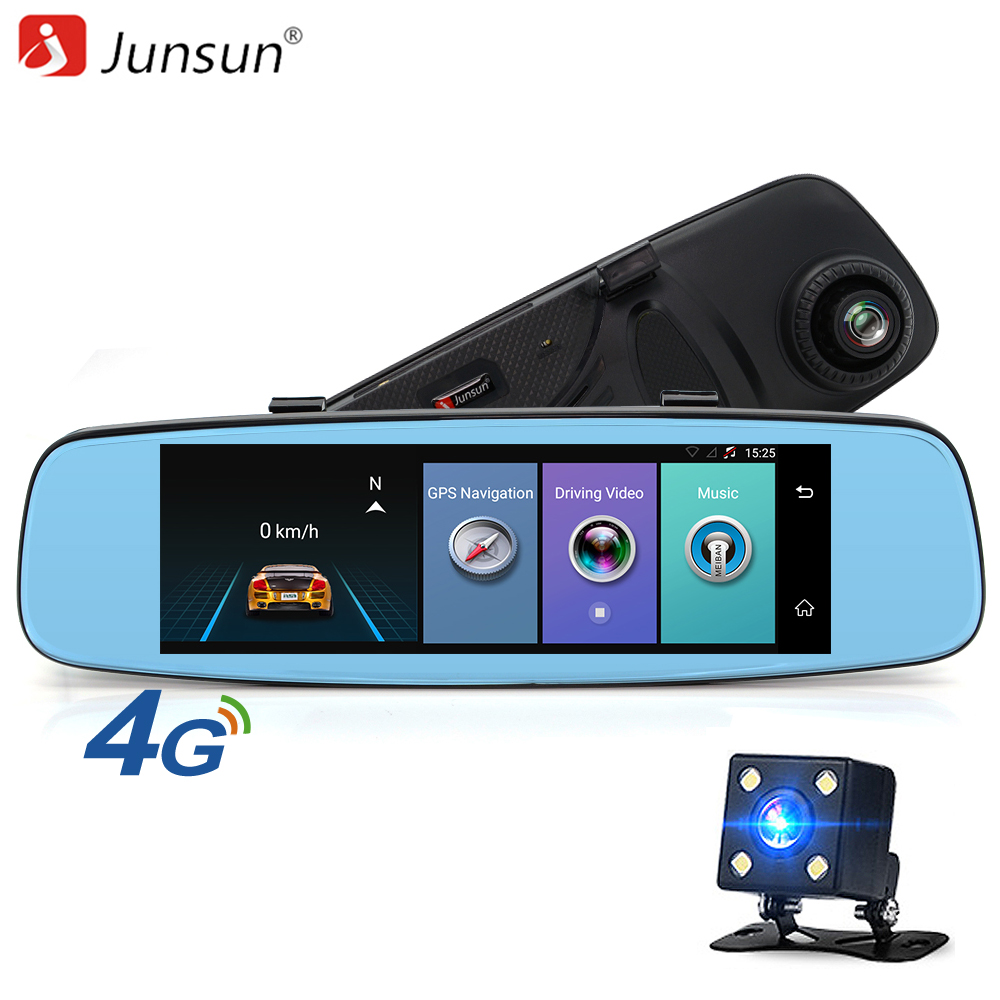 Junsun A880 ADAS Car DVR detector 4G Camera Video recorder mirror 7.86 Android 5.1 with two camera dash cam Registrar black box junsun wifi car dvr camera video recorder registrator novatek 96655 imx 322 full hd 1080p dash cam for volkswagen golf 7 2015