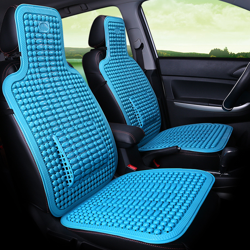 Summer Plastic Seat Cushion Breathable Cool Car Chinese Knot Elements Auto Minibus Home Chair Cover