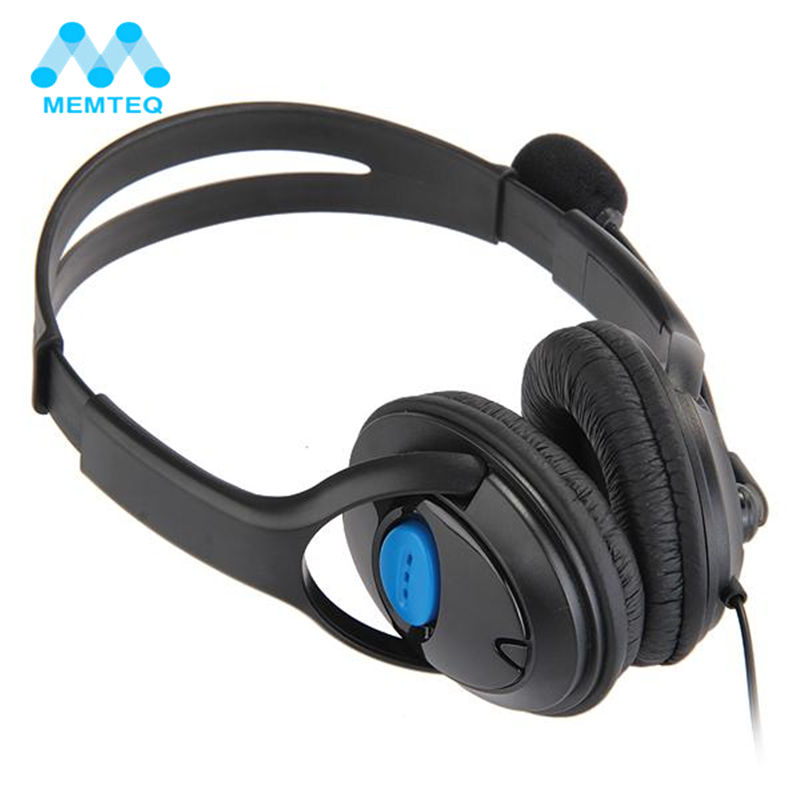 MEMTEQ Headphone 3.5mm Wired Headset Computer Gaming Earphone with Microphone Mic Chat Noise Canceling for Playstation 4 PS4 high quality wired headphone for ps4 gaming headset headphone microphone mic chat for playstation 4 ps4 black