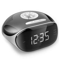 Radio LED Radio Alarm Clock Digital Screen Dual Alarm Desktop Display USB Charge Electronic Bedside Audio input of music player