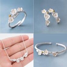 Jisensp Style coréen mignon fleurs de cerisier fleur boucles d'oreilles pour les femmes cadeau de mariage Boucle d'oreille Bijoux de plante