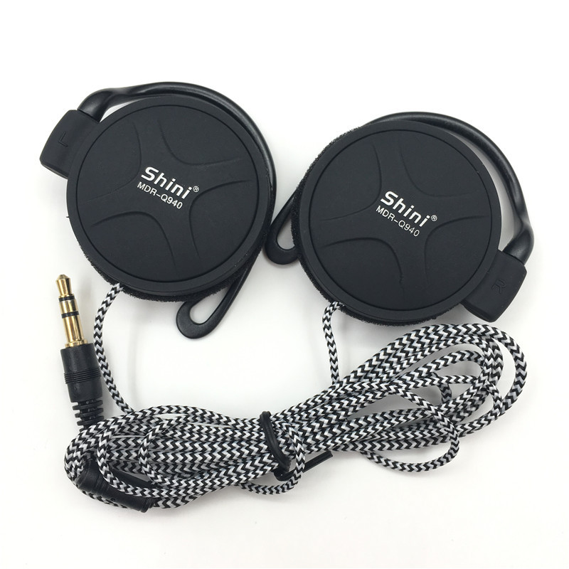 Headphones 3.5mm Headset EarHook Earphone For Mp3 Player Computer Mobile Telephone Earphone Wholesale ShiniQ940 Free Shipping
