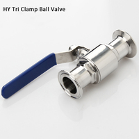 OD25 Clamp 50.5 Sanitary Tri Clamp Ball Valve 316 Stainless Steel Valve for Home brew