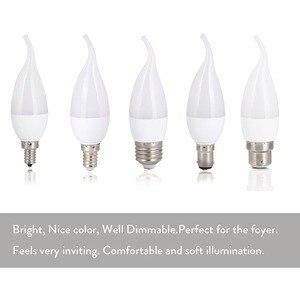 Image 2 - Bombilla Led E14 E27 B22 E12 B15 3W de ahorro de energía, para el hogar Lámpara decorativa, iluminación de reemplazo de 30W, halógena