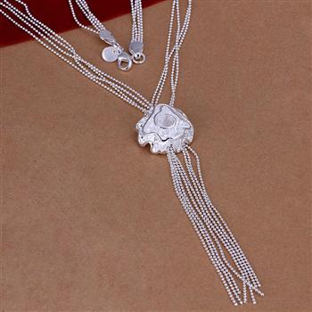"""Plata esterlina 925 Árbol de la vida circular metal de nivel triple cadena colgante 22mm 18/"""" medio"""