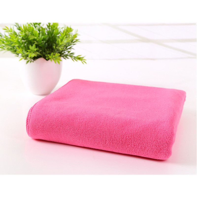 Wholesale Microfiber Bath Towels: Wholesale Fuchsia Solid Soft Microfiber Practical