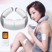 3D Wireless Remote Control Cervical Vertebra Massager Neck Therapy Massage Hot Moxibustion and Timing Treatment Instrument