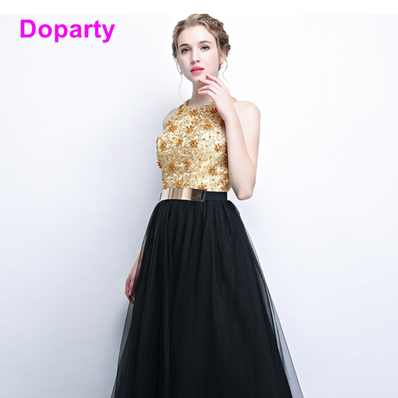 XS4 black elegant long formal special occasion mother of the bride evening  dress women engagement prom dresses 2018 gold gown db981f908